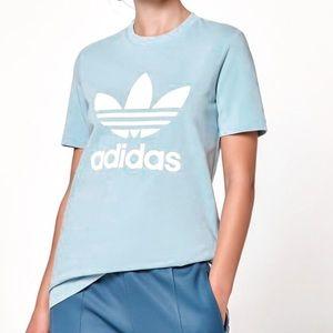 Adidas Trefoil light blue tee